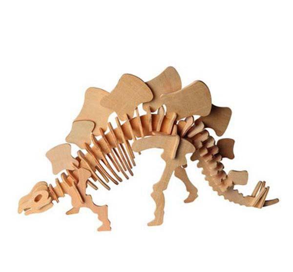 Модель деревянная сборная - СтегозаврПазлы объёмные 3D<br>Модель деревянная сборная - Стегозавр<br>