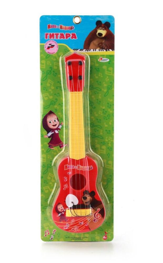 Гитара из серии Маша и Медведь, с медиатором