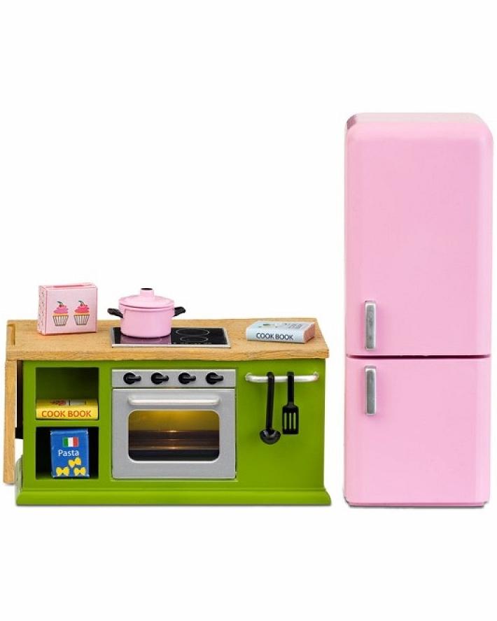 Купить Мебель для домика Смоланд - Кухонный набор с холодильником, Lundby
