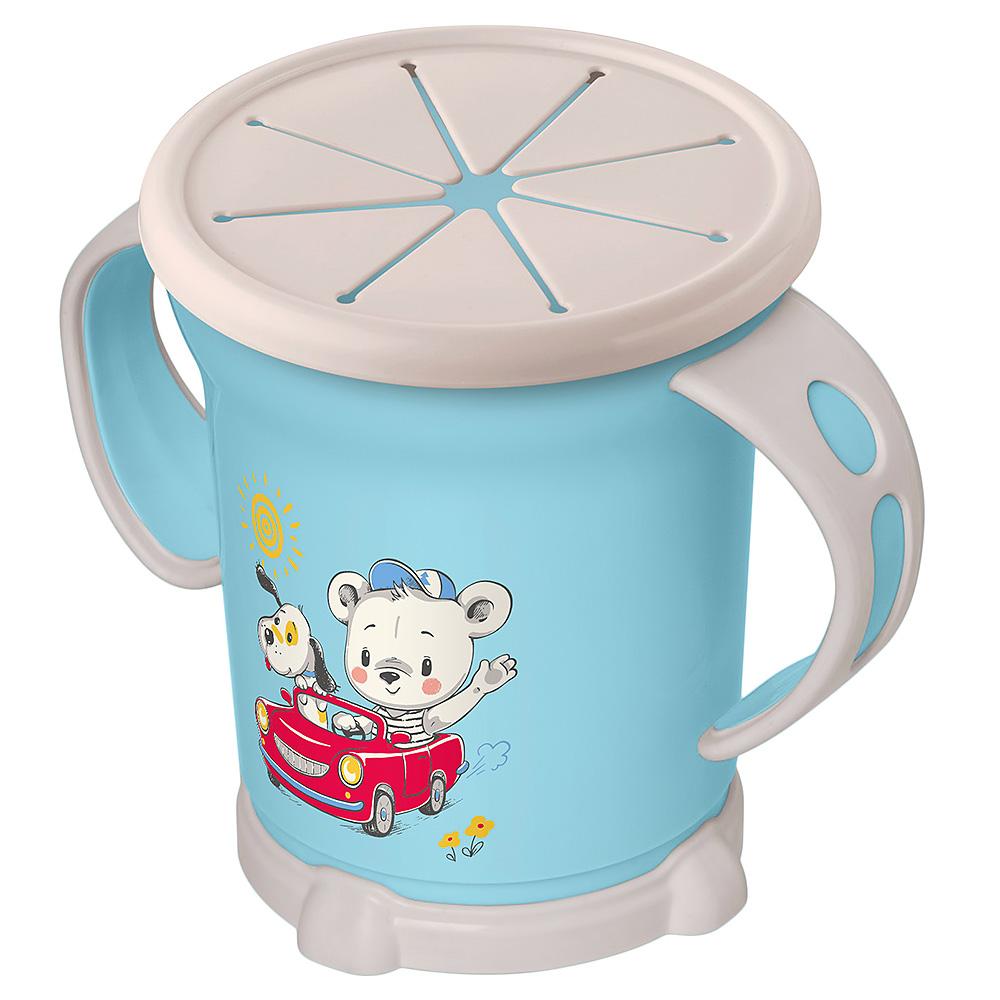 Чашка для сухих завтраков с декором, 270 мл, голубой фото