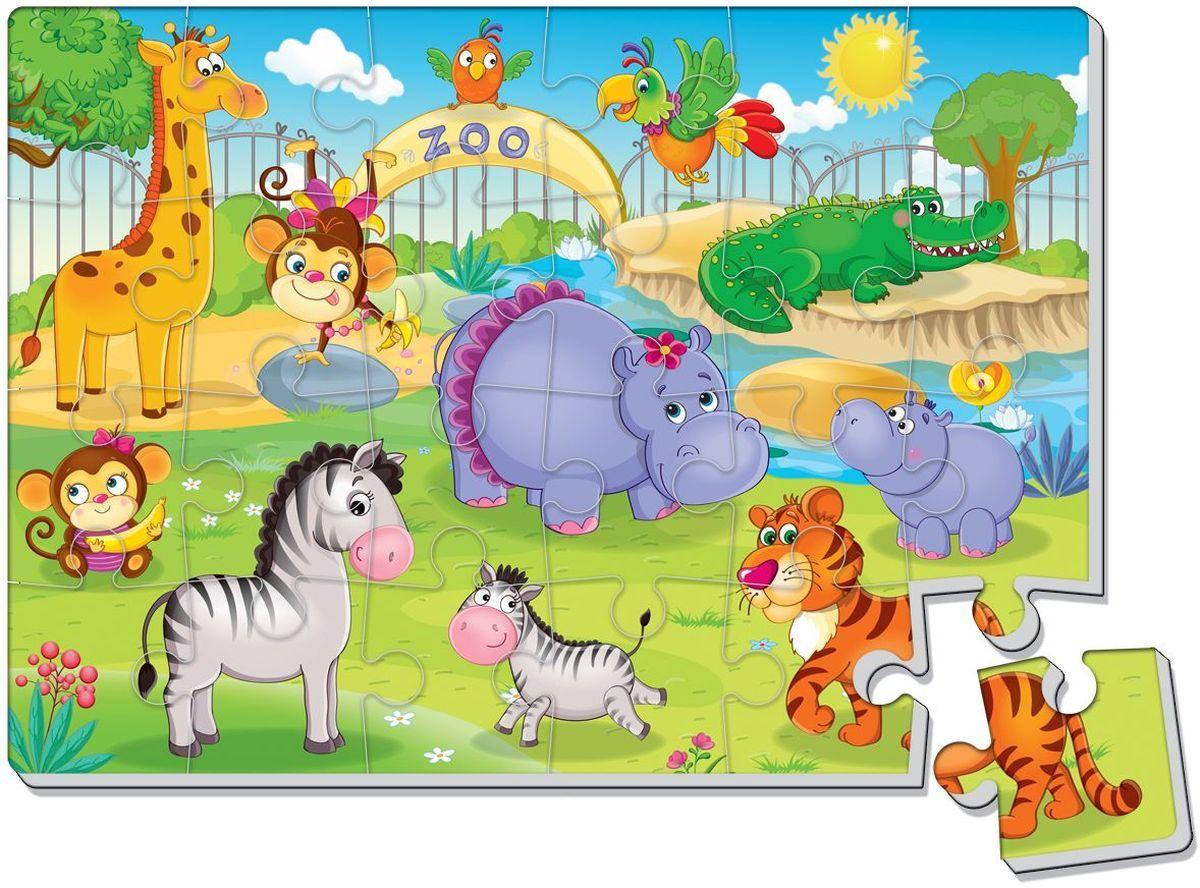 Мягкие пазлы – Зоопарк, А4, 24 элемента фото