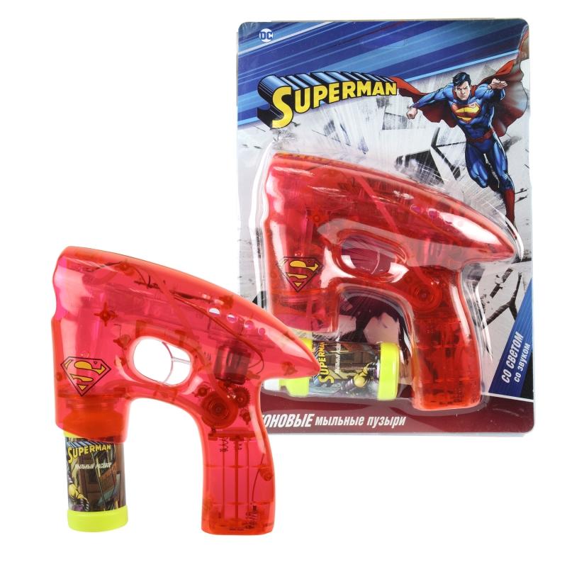 Купить Мыльный пистолет из серии Superman, светится в темноте, звук, 45 мл., 1TOY