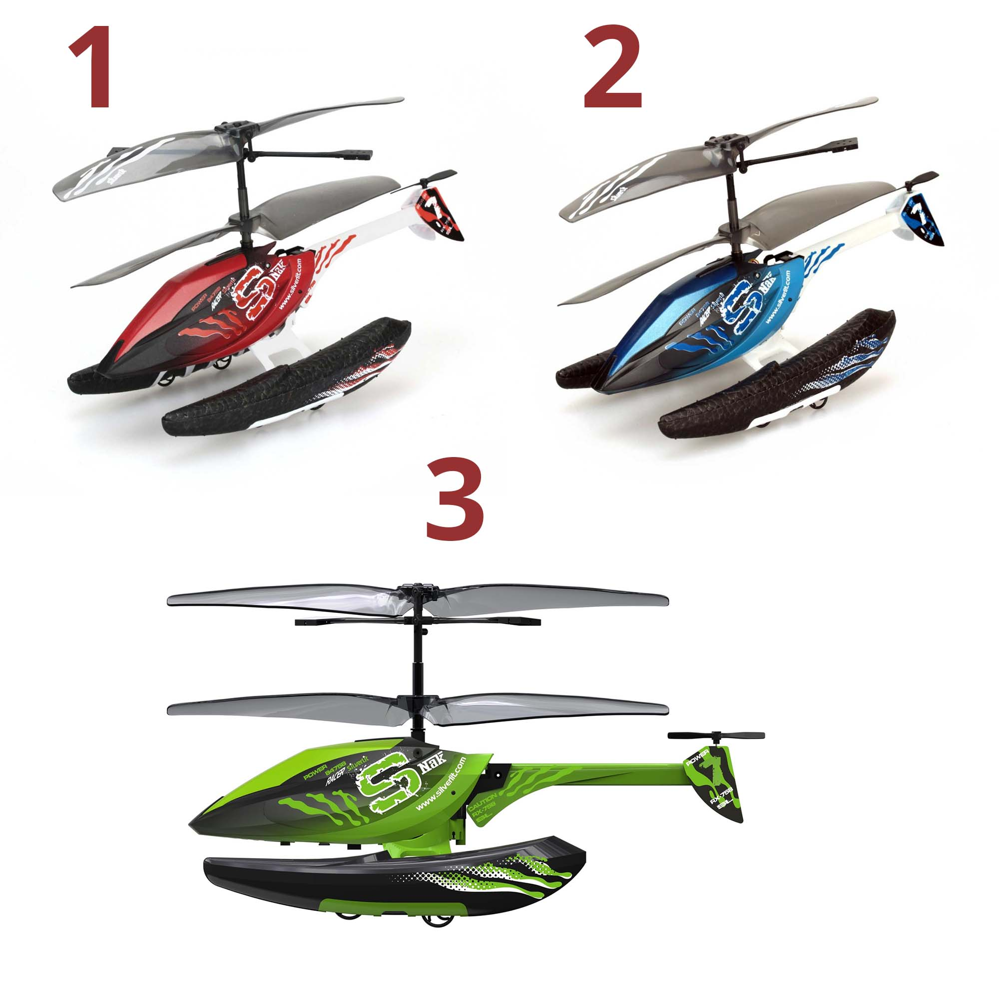 Вертолет 3-х канальный Silverlit ГидрокоптерРадиоуправляемые вертолеты<br>Вертолет 3-х канальный Silverlit Гидрокоптер<br>
