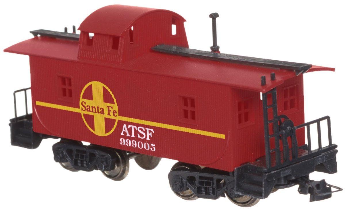 Служебный вагон-камбуз для товарного поезда Mehano Santa FE-EU/Black WДетская железная дорога<br>Служебный вагон-камбуз для товарного поезда Mehano Santa FE-EU/Black W<br>