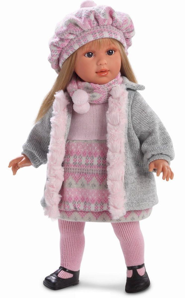 Кукла Мартина в сером пальто, 40 см.Испанские куклы Llorens Juan, S.L.<br>Кукла Мартина в сером пальто, 40 см.<br>
