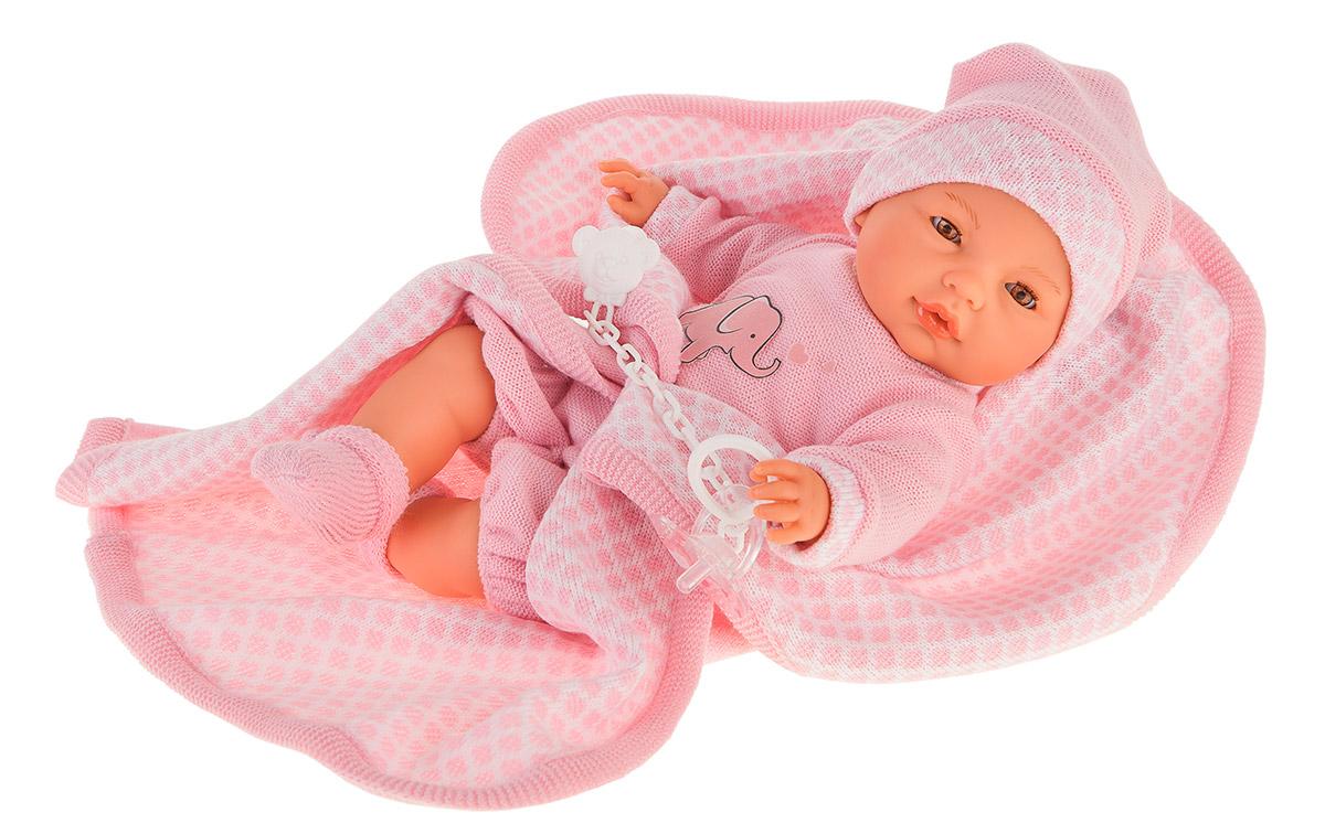 Купить Интерактивная кукла Вега в розовом, плачет, 37 см, Antonio Juan Munecas