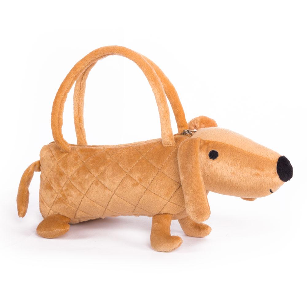 Собачка-сумочка коричневая, 35 см - Детские сумочки, артикул: 172086