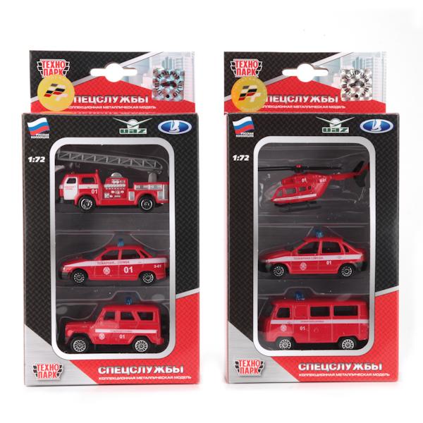 Набор из трех единиц техники «Пожарный транспорт», 1:72Пожарная техника, машины<br>Набор из трех единиц техники «Пожарный транспорт», 1:72<br>