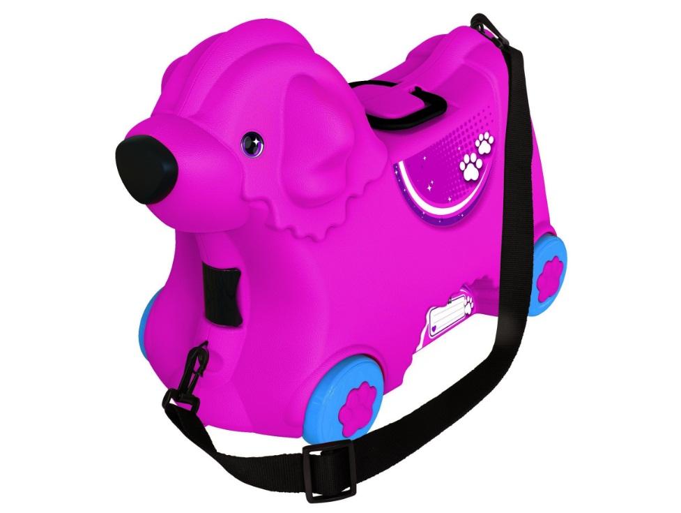 Детский чемодан на колесиках, розовый - Чемоданы для путешествий, артикул: 161172