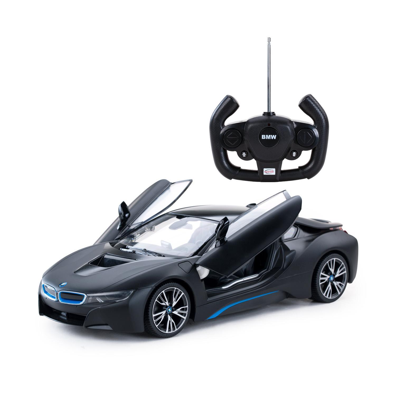 картинка Радиоуправляемая машина - BMW i8, цвет черный матовый, 1:14, 40MHZ от магазина Bebikam.ru