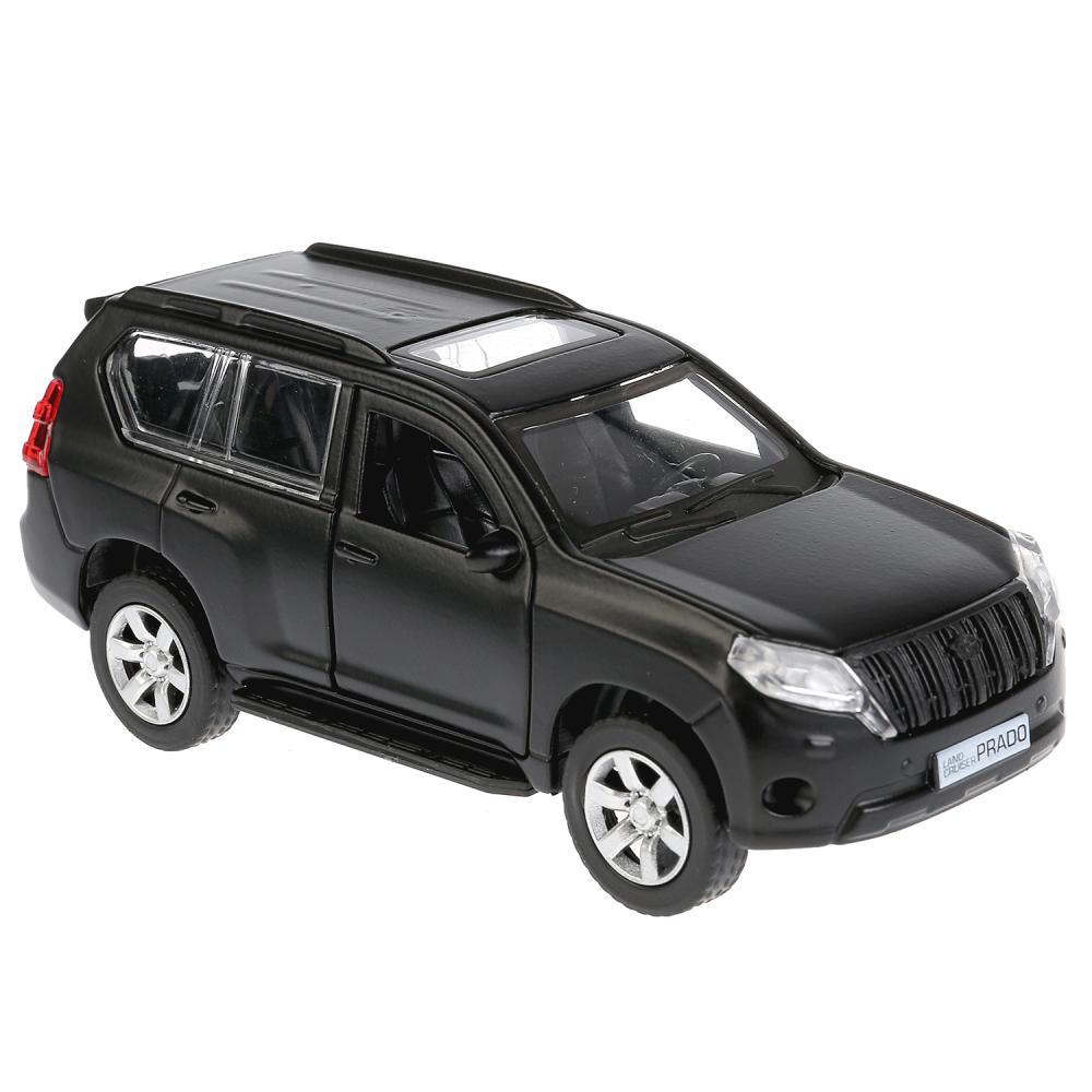 Модель Toyota Prado, матовая черная, 12 см, открываются двери, инерционная фото