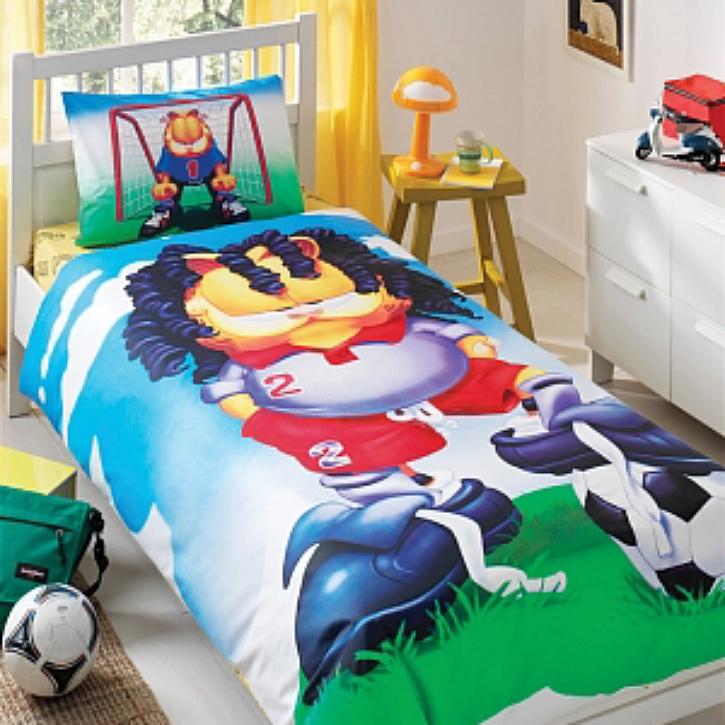 Детское постельное белье Garfield Football, 3-12 летДетское постельное белье<br>Детское постельное белье Garfield Football, 3-12 лет<br>