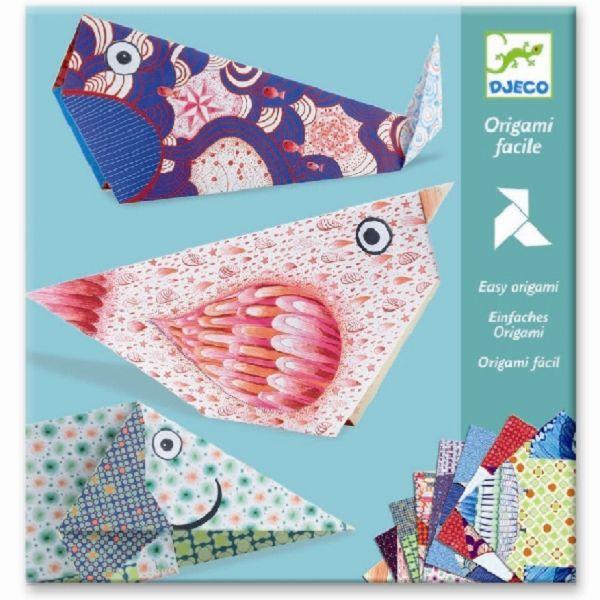 Купить Оригами - Большие животные, 8 заготовок, Djeco