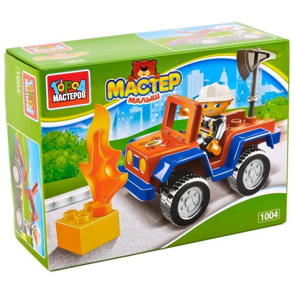 Конструктор Большие кубики - Пожарная машинаГород мастеров<br>Конструктор Большие кубики - Пожарная машина<br>