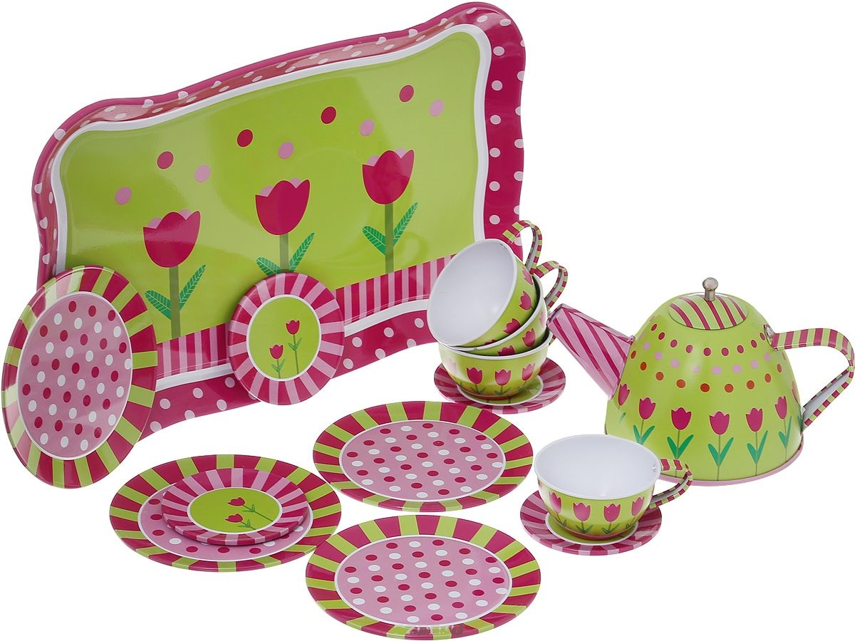 Набор игровой - Помогаю маме. Набор посуды для чаепитияАксессуары и техника для детской кухни<br>Набор игровой - Помогаю маме. Набор посуды для чаепития<br>