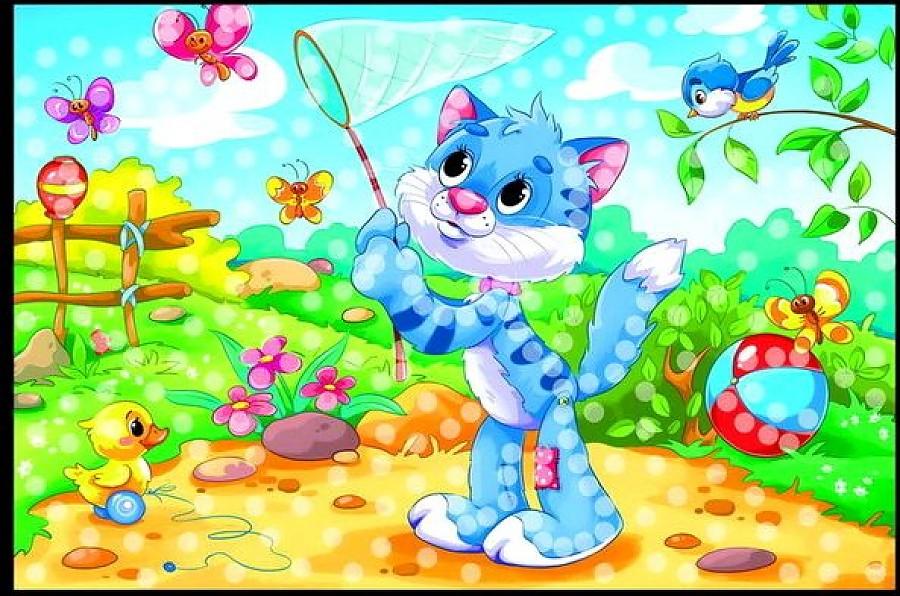 Мозаика из пайеток А4 - Милый Котик по цене 166