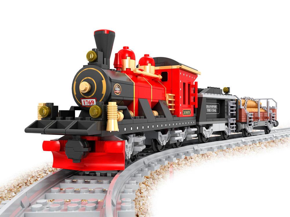 Купить Конструктор Поезд, 410 деталей, ABtoys