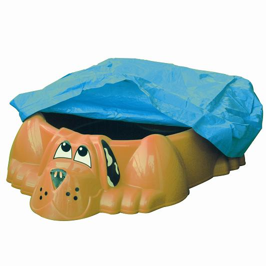 Детская пластиковая песочница мини-бассейн  Собачка с покрытием - Детские песочницы, артикул: 161052