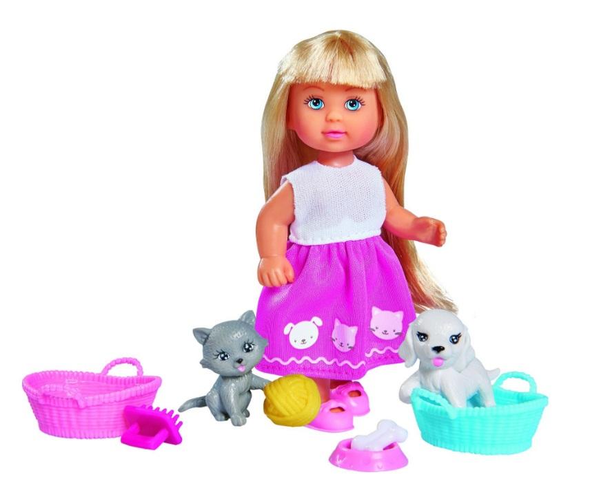 Набор – Домашние питомцы с куклой Еви, 12 смКуклы Еви<br>Набор – Домашние питомцы с куклой Еви, 12 см<br>