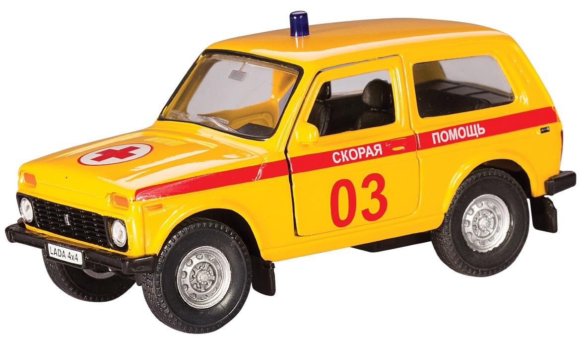 Машинка металлическая Lada 4x4 Скорая помощь, 1:36 )LADA<br>Машинка металлическая Lada 4x4 Скорая помощь, 1:36 )<br>