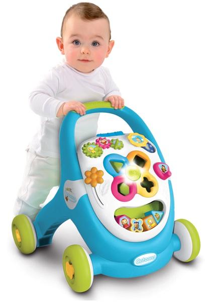 Развивающая каталка - Ходунки, свет, звук, синяяМашинки-каталки для детей<br>Развивающая каталка - Ходунки, свет, звук, синяя<br>