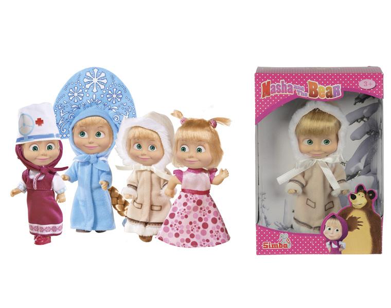Маша, 4 вида: Снегурочка, день рождения, эскимоска, врач - Маша и медведь игрушки, артикул: 124676