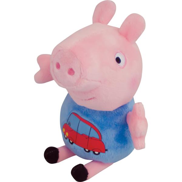 Мягкая игрушка Джордж с машинкой 18см тм Peppa PigСвинка Пеппа (Peppa Pig )<br>Мягкая игрушка Джордж с машинкой 18см тм Peppa Pig<br>