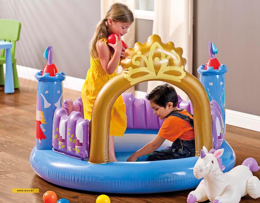 Центр игровой «Магический Замок», с шариками и единорогомДетские надувные батуты<br>Центр игровой «Магический Замок», с шариками и единорогом<br>
