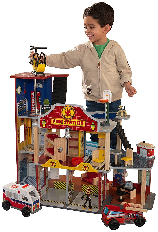 Набор Пожарно-Спасательная станция Kidkraft ДелюксСамолеты, службы спасения<br>Набор Пожарно-Спасательная станция Kidkraft Делюкс<br>