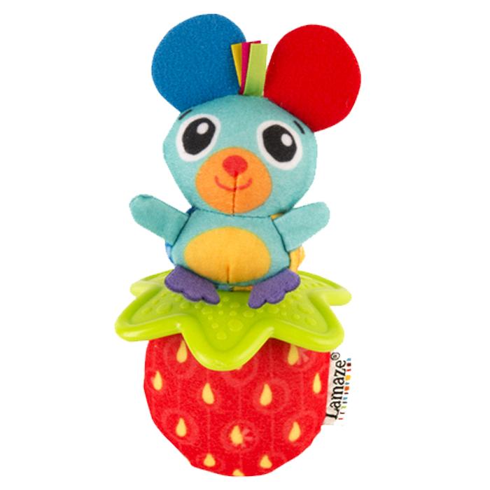 Погремушка Мышка и клубникаДетские погремушки и подвесные игрушки на кроватку<br>Погремушка Мышка и клубника<br>