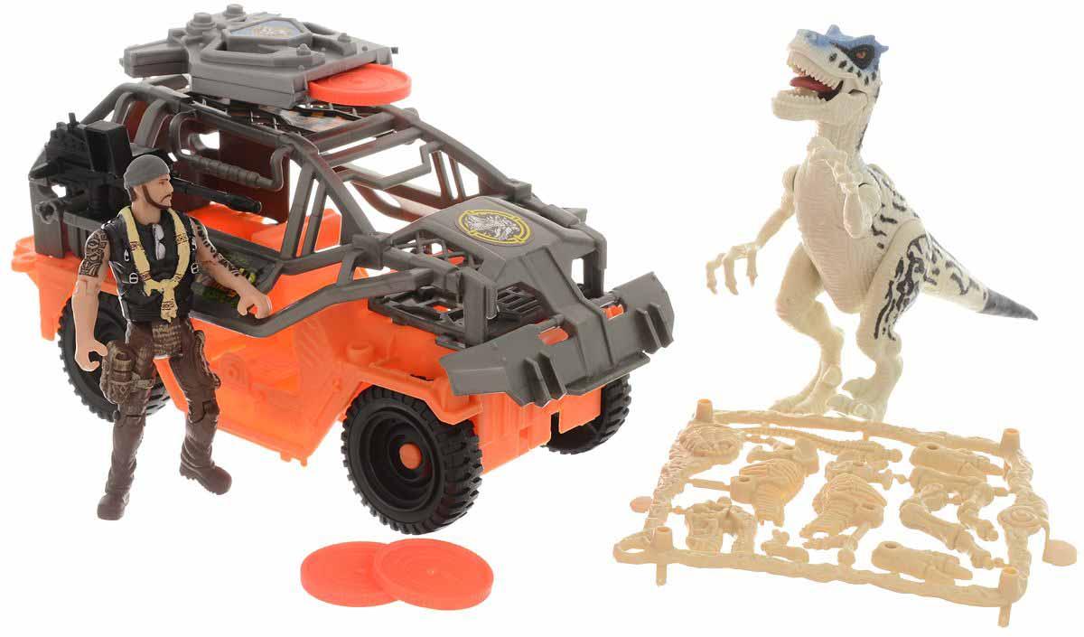 Набор - Динозавр Тираннозавр и охотник на джипеЖизнь динозавров (Prehistoric)<br>Набор - Динозавр Тираннозавр и охотник на джипе<br>