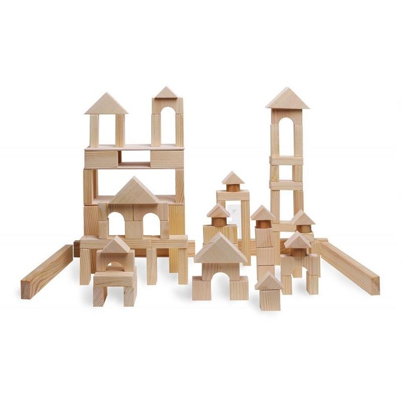 Купить Деревянный конструктор, 85 деталей, неокрашенный, Paremo