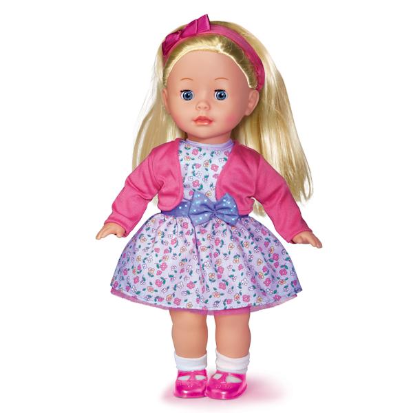 Кукла озвученная, 100 фраз, песенки, стихи, загадки, 40 см.Куклы Карапуз<br>Кукла озвученная, 100 фраз, песенки, стихи, загадки, 40 см.<br>