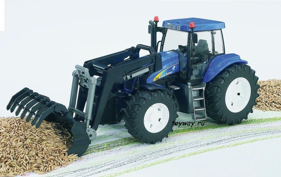 Трактор Bruder New Holland T8040 с погрузчикомИгрушечные тракторы<br>Трактор Bruder New Holland T8040 с погрузчиком<br>
