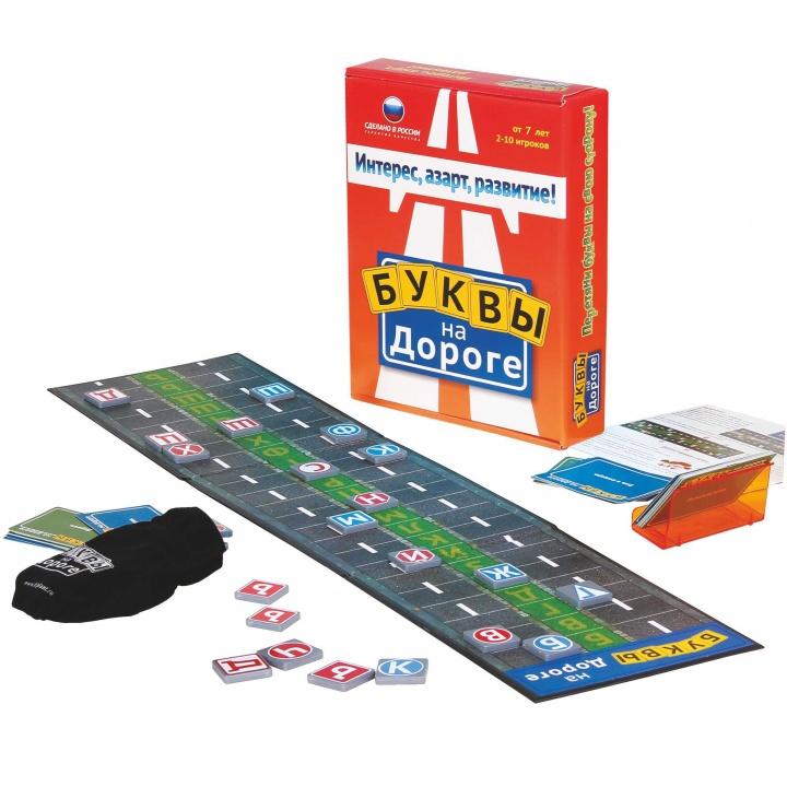 Игра настольная - Буквы на дорогеРазвивающие<br>Игра настольная - Буквы на дороге<br>