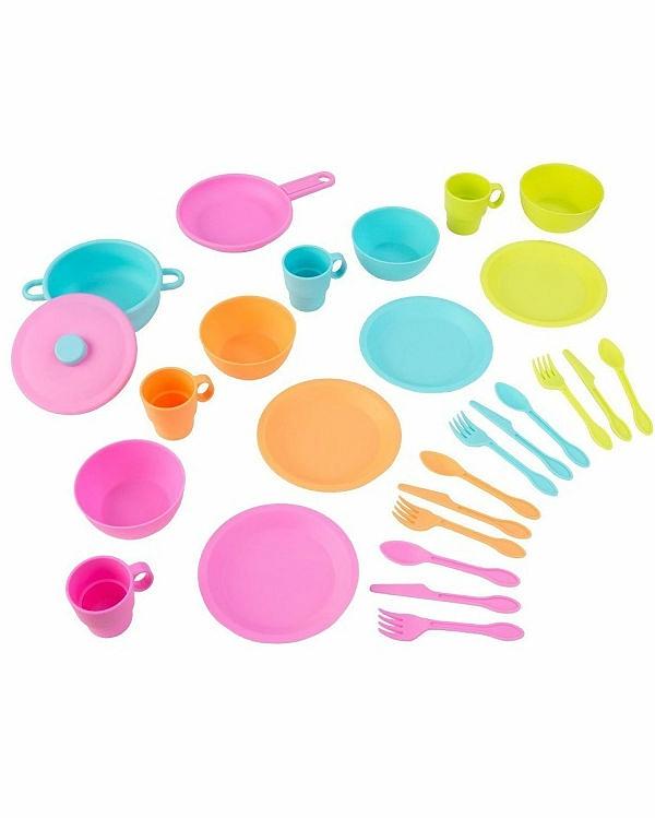 Кухонный игровой набор посуды ДелюксАксессуары и техника для детской кухни<br>Кухонный игровой набор посуды Делюкс<br>