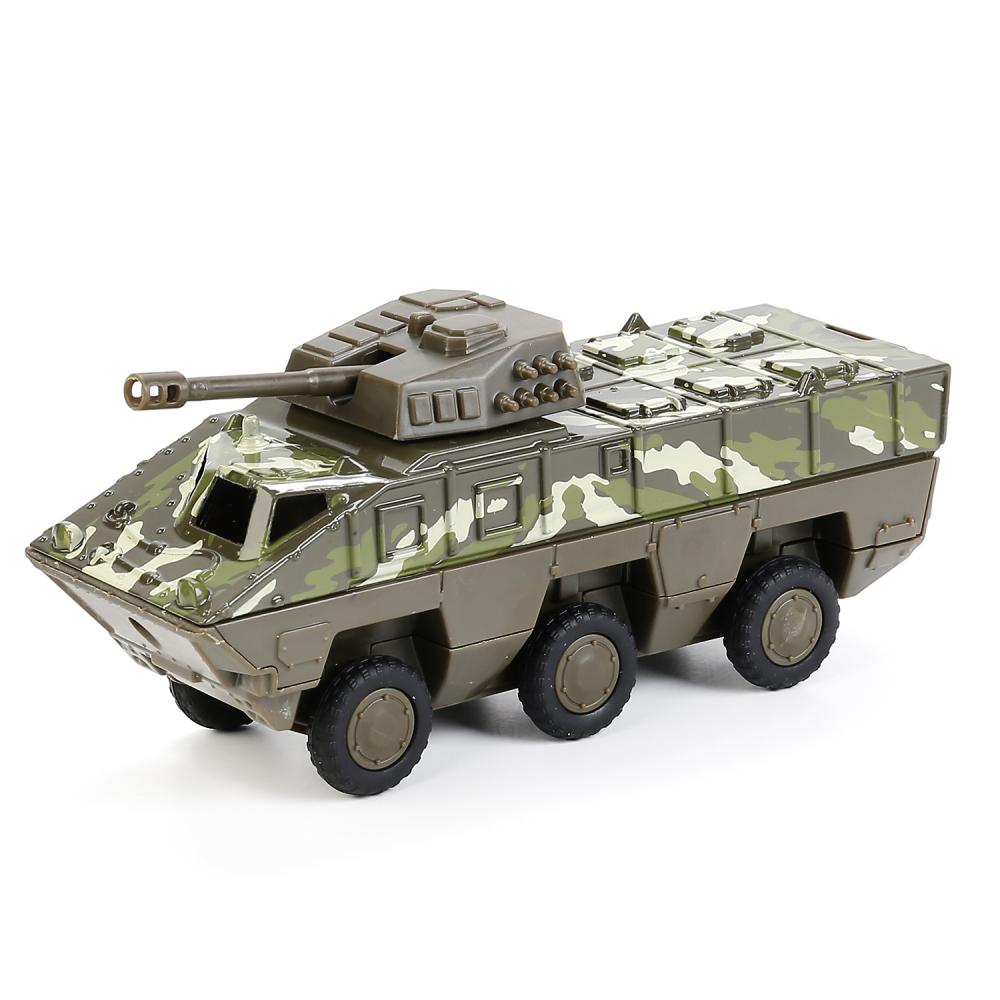 Купить Металлическая инерционная модель – БТР Тайфун, 15 см, открывающиеся двери, зеленый камуфляж -WB), Технопарк