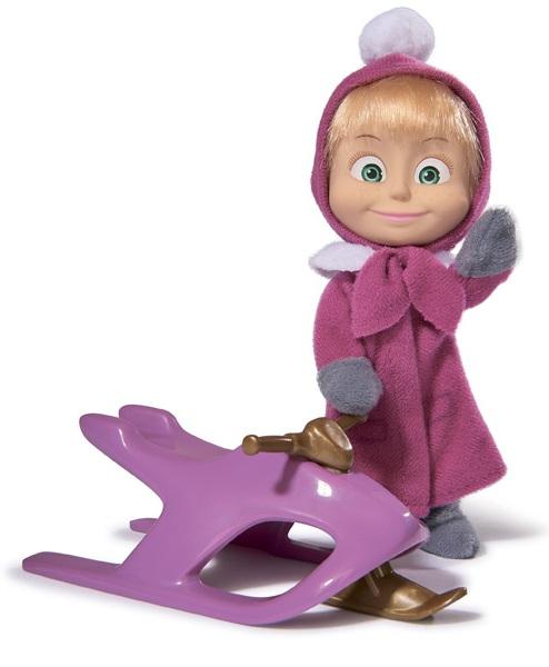 Маша в зимней одежде со снегокатом из серии «Маша и Медведь» - Маша и медведь игрушки, артикул: 136627
