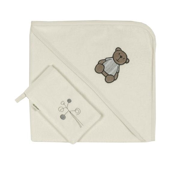 Полотенце-уголок и варежка Little Bear из 100% хлопкаполотенца и халаты<br>Полотенце-уголок и варежка Little Bear из 100% хлопка<br>