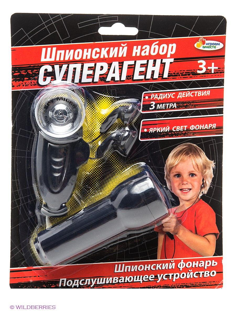 Шпионский набор с фонариком и подслушивающим устройствомШпионские игрушки. Наборы секретного агента<br>Шпионский набор с фонариком и подслушивающим устройством<br>