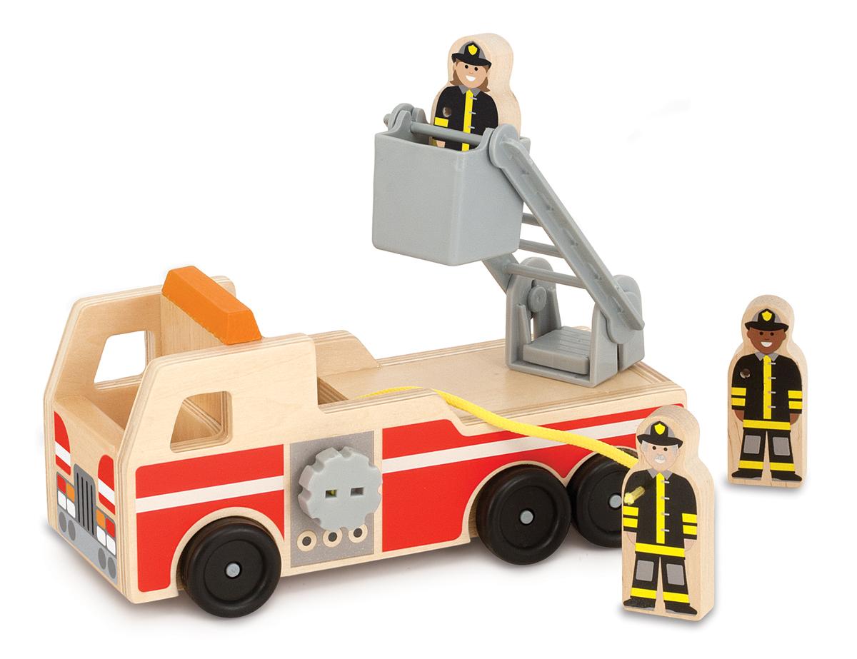 Купить Игровой набор - Пожарная машина с фигурками из серии Классические игрушки, Melissa&Doug