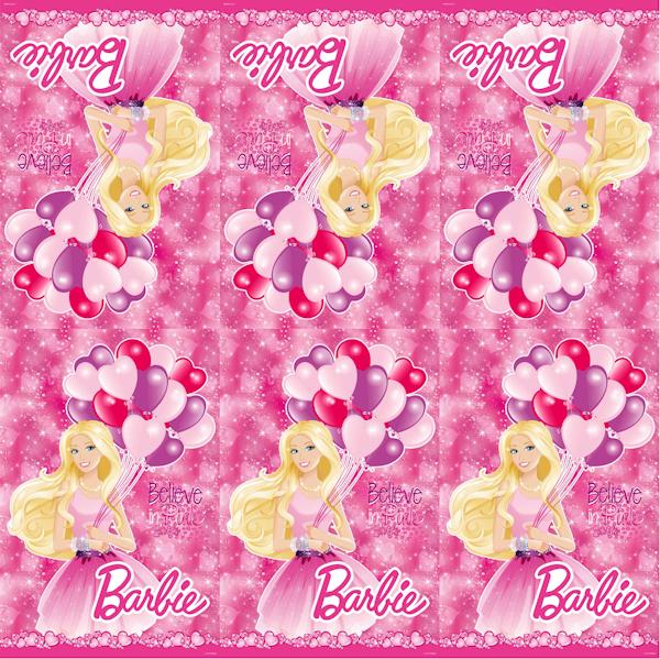 Скатерть с дизайном Barbie, 140 х 180 см., в пакетеBarbie (Барби)<br>Скатерть с дизайном Barbie, 140 х 180 см., в пакете<br>