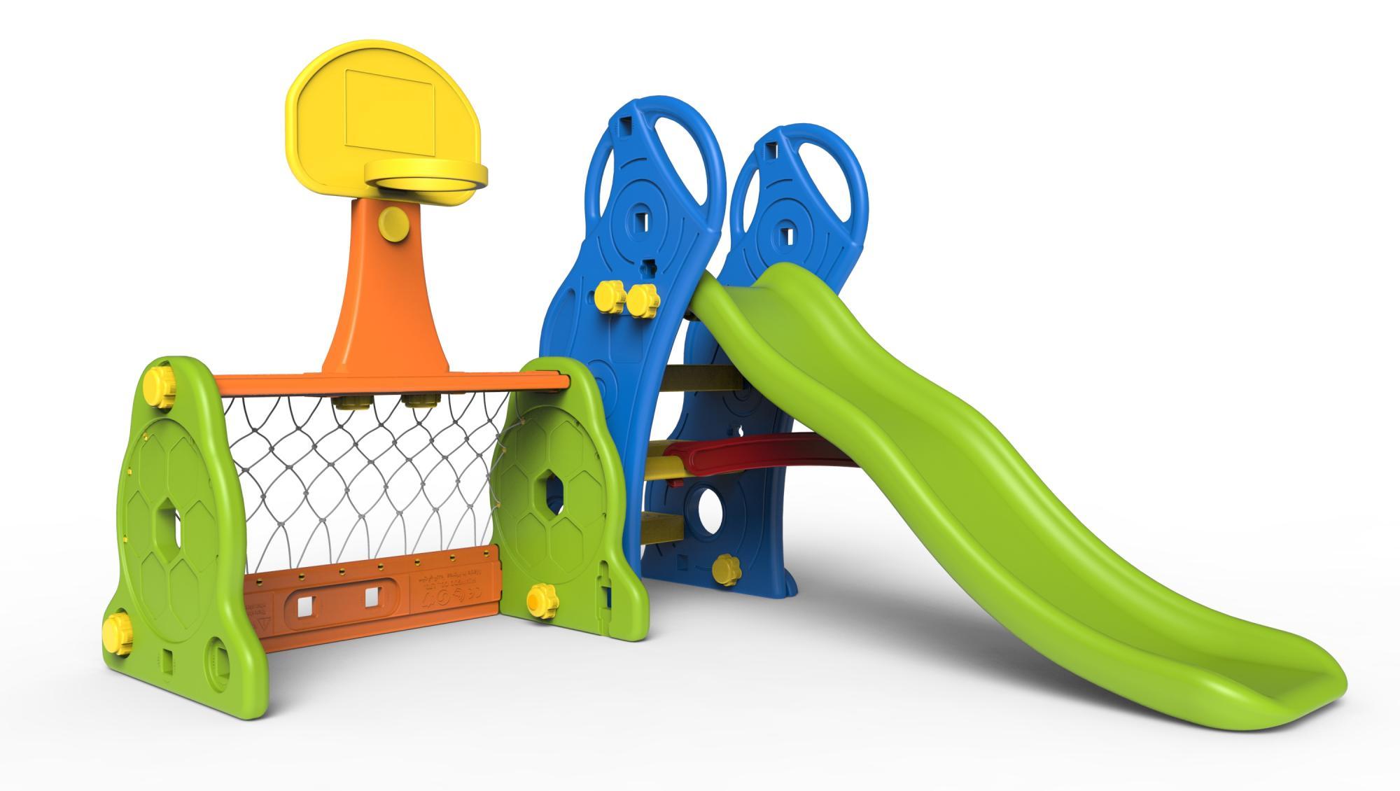 Купить Игровой комплекс - Маленький спортсмен, с горкой, кольцом и воротами, Toy Monarch