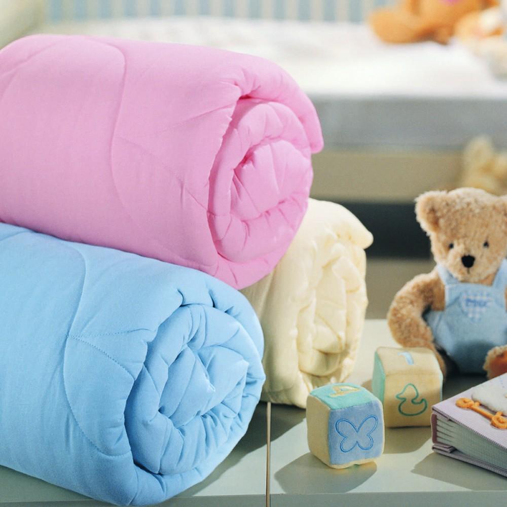 Одеяло для новорожденных, силиконизированное волокно, розовыйДетское постельное белье<br>Одеяло для новорожденных, силиконизированное волокно, розовый<br>