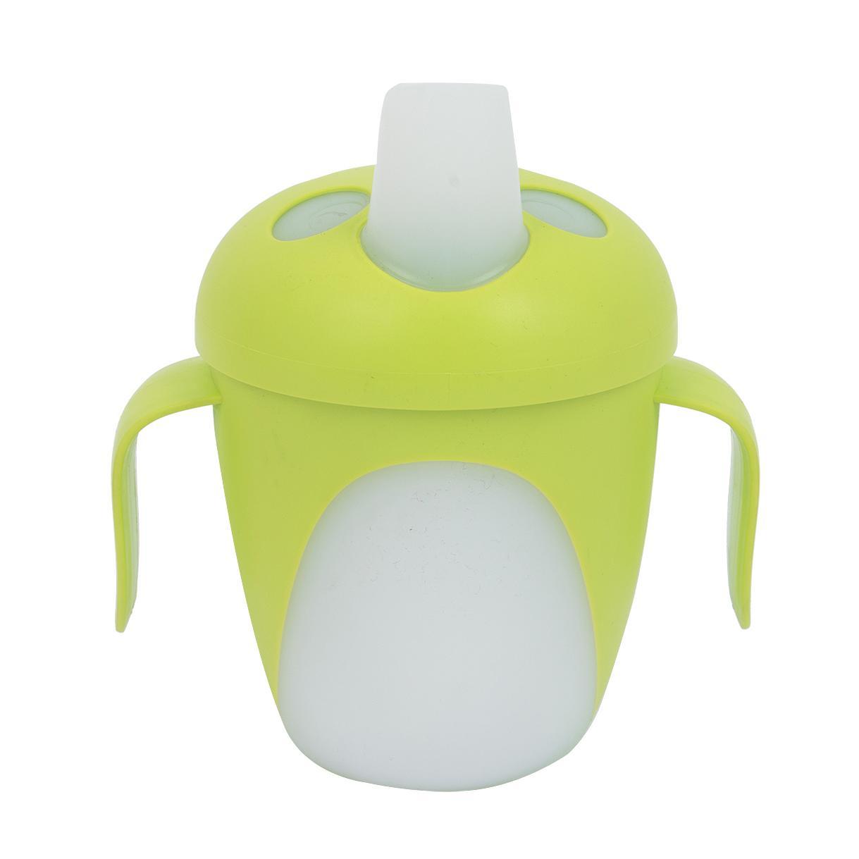 Чашка-непроливайка - Penguins, 240 мл, 9+, зеленый