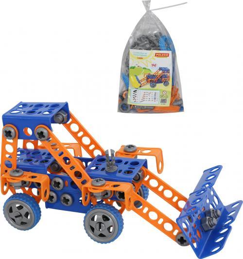Конструктор Трактор-погрузчик, 141 элемент - Конструкторы Полесье, артикул: 153861