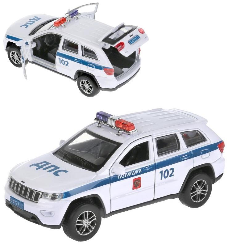 Купить Инерционный металлический Jeep Grand Cherokee - Полиция, 12 см, цвет белый, Технопарк