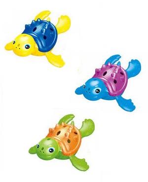 Игрушка для ванной - Плавающая черепашка с подсветкой, 3 цветаЗаводные игрушки<br>Игрушка для ванной - Плавающая черепашка с подсветкой, 3 цвета<br>