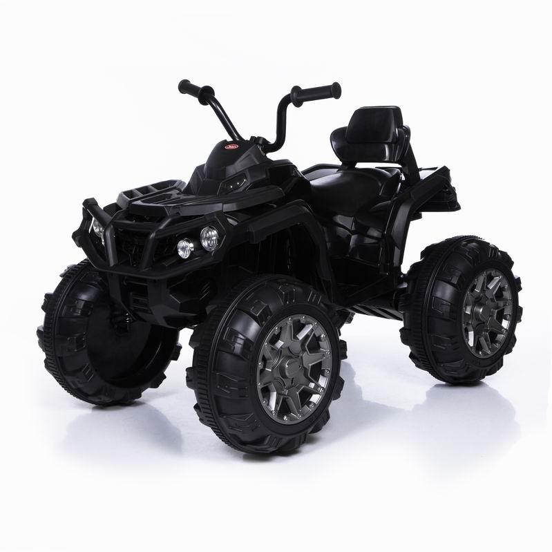 Электромобиль-квадроцикл Grizzly - 2-х моторный – черный, Black