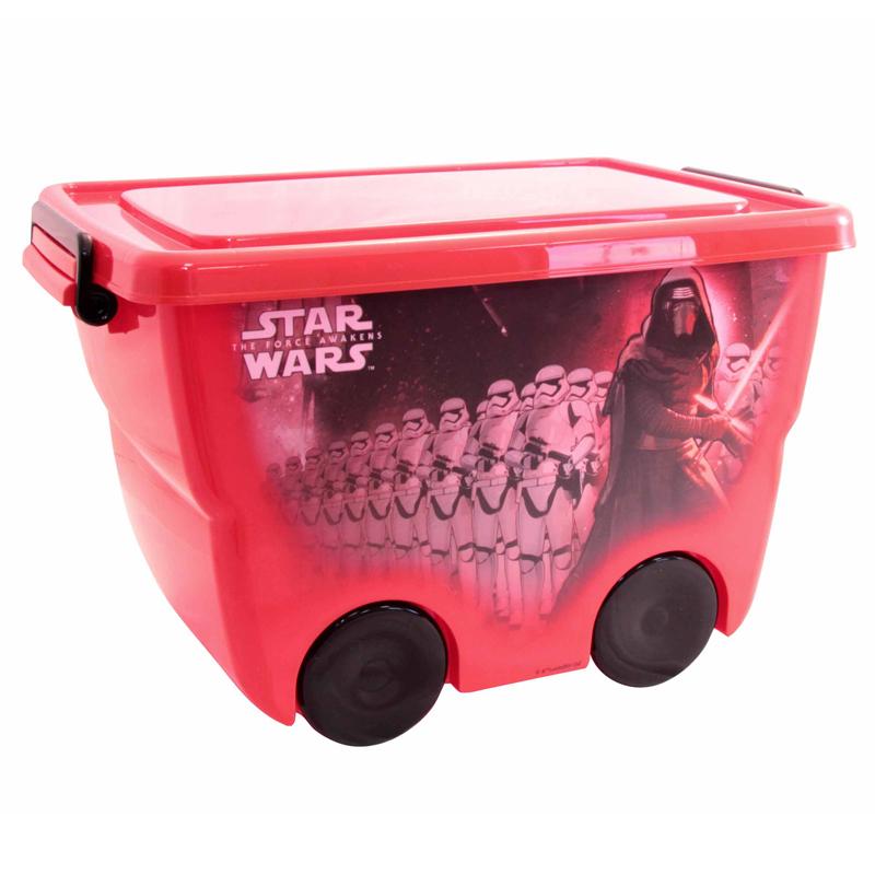 Ящик для игрушек из серии Звездные Войны, красный, 24 литраКорзины для игрушек<br>Ящик для игрушек из серии Звездные Войны, красный, 24 литра<br>